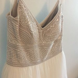 NWT Adrianna Papell wedding/prom embroidered gown